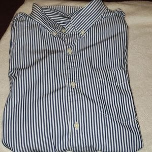 Striped Button Down Collared Shirt